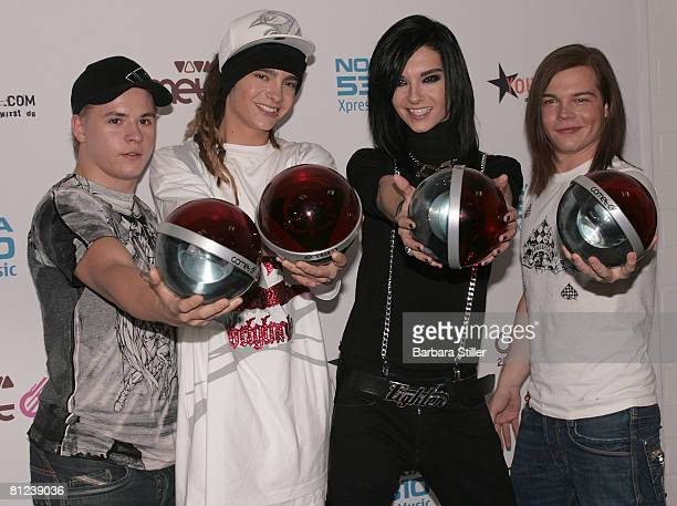 Tokio Hotel receive a Comet at the VIVA Comet Awards on May 23 2008 in Oberhausen Germany