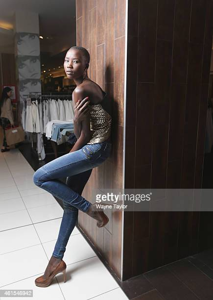 Tokio James poses during for the the David Jones Autumn Winter 2015 fashion casting at David Jones Bourke Street Mall on January 15 2015 in Melbourne...