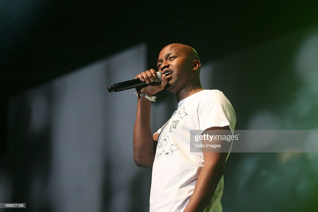Tokollo Tshabalala at the Kanye West concert at The Dome on February 2, 2013, in Johannesburg, South Africa.