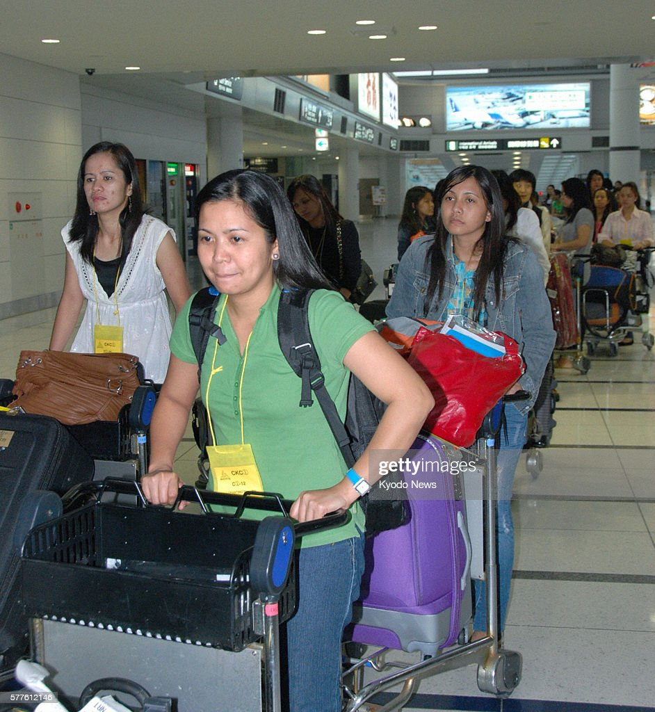 Tokoname Japan Seventy nurses arrive from the Philippines at Chubu Centrair International Airport near Nagoya on May 29 2011 Nearly 30 Filipino...