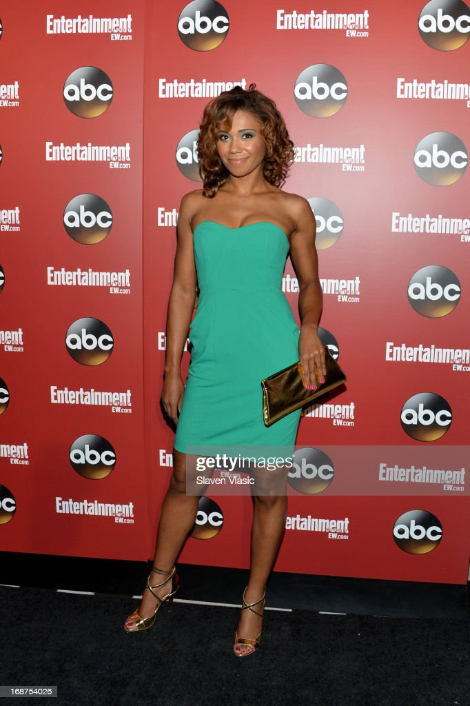Toks Olagundoye attends the Entertainment Weekly & ABC-TV Upfronts Party at The General on May 14, 2013 in New York City.