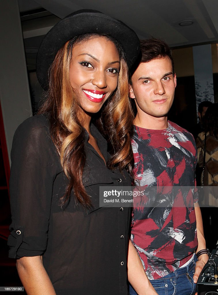 Tokumbo Daniel (L) and William Tempest attend the launch of the W Republic of Verbier takeover at W London - Leicester Square on October 24, 2013 in London, England.