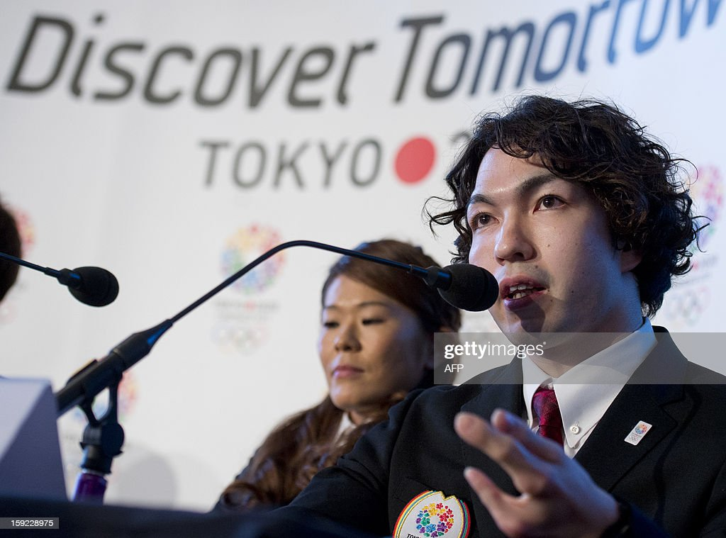 Tokyo 2020 bid ambassador and three-time swimming Paralympian and London 2012 Games bronze medalist, Takayuki Suzuki, speaks during a press conference in London on January 10, 2013 to launch their candidature file for the 2020 Olympic and Paralympic Games. Tokyo is bidding to host its first Summer Olympics since the 1964 Games. The plan features a 'compact' and 'dynamic' Olympics based on Tokyo's financial wealth and track record in hosting international sports events. It also aims to allay fears of damage from a big earthquake or radiation from the 2011 Fukushima nuclear disaster.