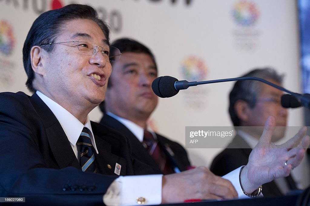 Tokyo 2020 bid chief executive Masato Mizuno speaks during a press conference in London on January 10, 2013 to launch their candidature file for the 2020 Olympic and Paralympic Games. Tokyo is bidding to host its first Summer Olympics since the 1964 Games. The plan features a 'compact' and 'dynamic' Olympics based on Tokyo's financial wealth and track record in hosting international sports events. It also aims to allay fears of damage from a big earthquake or radiation from the 2011 Fukushima nuclear disaster.