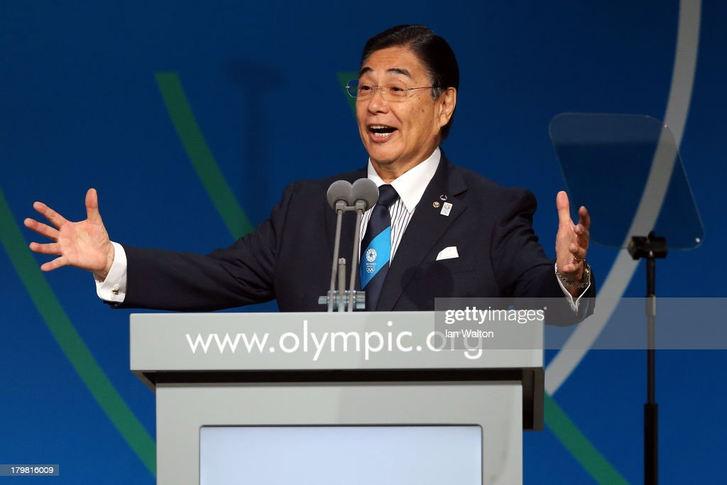 Tokyo 2020 CEO <a gi-track='captionPersonalityLinkClicked' href=/galleries/search?phrase=Masato+Mizuno&family=editorial&specificpeople=714172 ng-click='$event.stopPropagation()'>Masato Mizuno</a> speaks during the Tokyo 2020 bid presentation during the 125th IOC Session - 2020 Olympics Host City Announcement at Hilton Hotel on September 7, 2013 in Buenos Aires, Argentina.