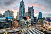 Shinjuku Ward skyline in Tokyo, Japan.