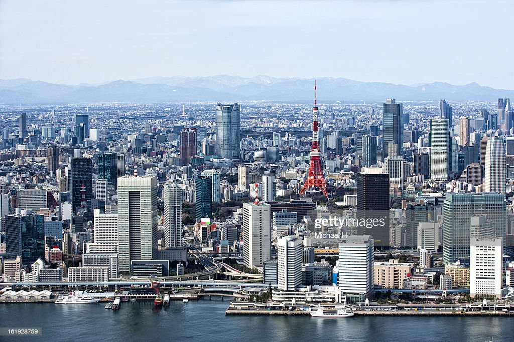 Tokyo Bay,Skyscrapers and Tokyo Tower
