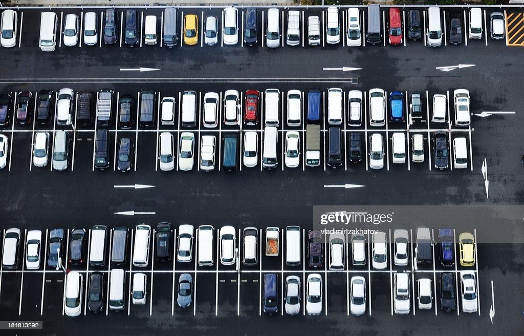 Tokyo,  bird's-eye view of car-park