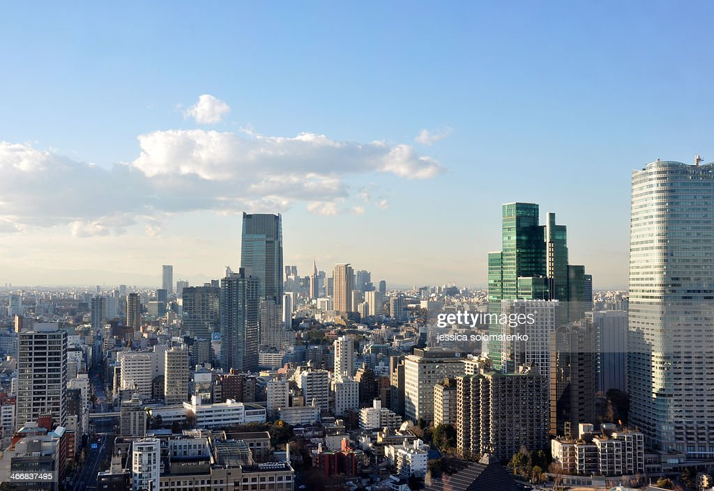 Tokyo City in late afternoon : Stock Photo