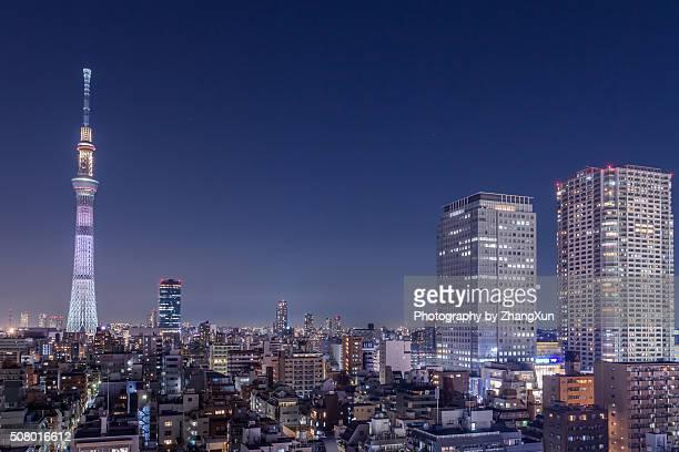 Tokyo City night view at Kinshityou Tokyo