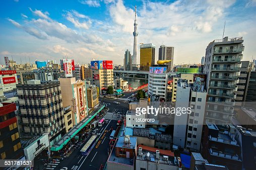 Tokyo city skyline with Tokyo Skytree in Japan