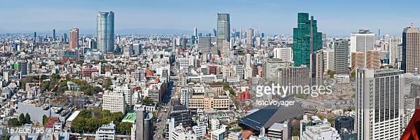 Tokyo crowded cityscape panorama downtown skyscrapers Roppongi Shinjuku Minato-ku Japan
