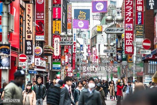 Tokyo crowds in Shibuya