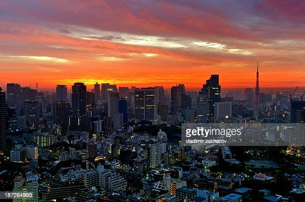 Tokyo Downtown at sunrise