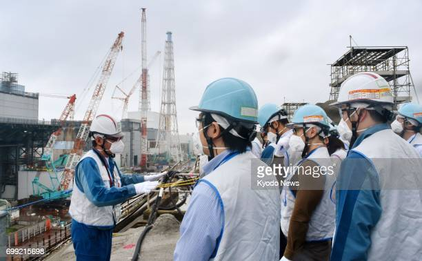Tokyo Electric Power Co opens the troubled Fukushima Daiichi complex in the northeastern Japan to the media on June 21 2017 Decommissioning work is...