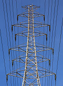 Tokyo Electric Power Co's Power transmission lines run from an electricity pylon in Souka city Saitama prefecutre Japan Nov 14 2013 Photo by...