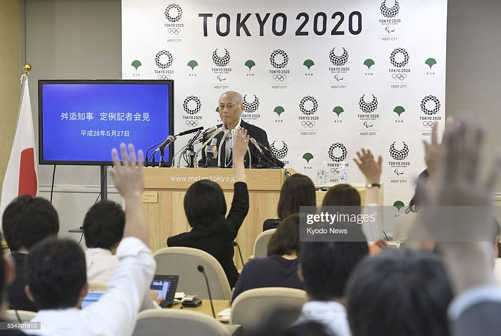 Tokyo Gov. Yoichi Masuzoe attends a press conference at the metropolitan government office on May 27, 2016. On allegations that he used political funds for private purposes, Masuzoe declined to give a detailed account.