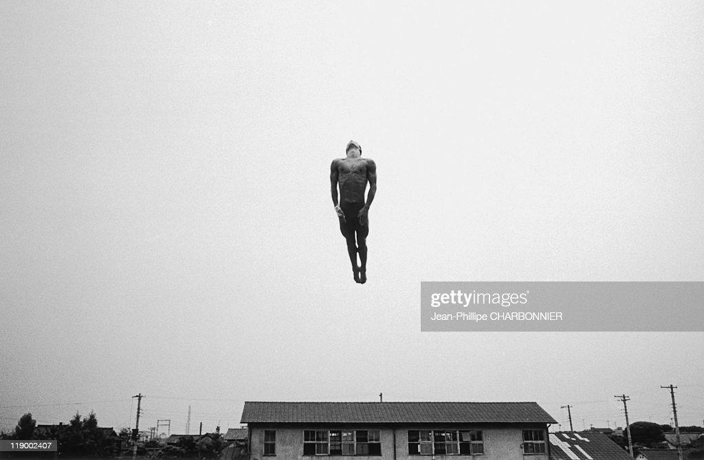 Tokyo. Human Cannonball. Yosuke Arimitsu, Champion Diver, Training For The Pre-Olympics.