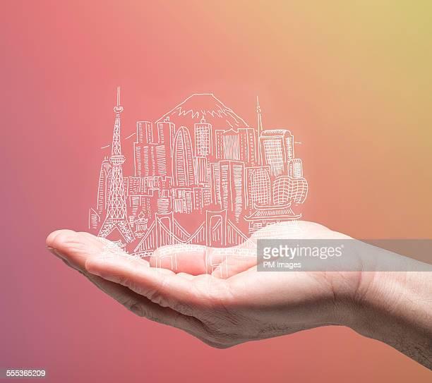 Tokyo in man's hand