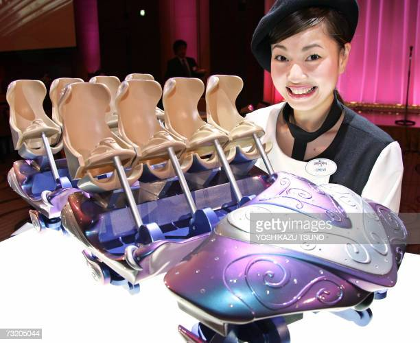 Hollywood theme park Universal Studios Japan unveils the new roller coaster 'Hollywood Dream the Ride' which runs through the park and park's one of...