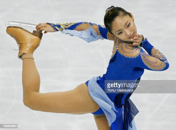 Japanese Miki Ando performs during the women's short program event at the World Figure Skating Championships in Tokyo 23 March 2007 Ando placed...