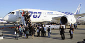 Tokyo Japan Passengers of All Nippon Airways Co's Boeing 787 Dreamliner jet bound for the western city of Okayama wave from the boarding ramp at...