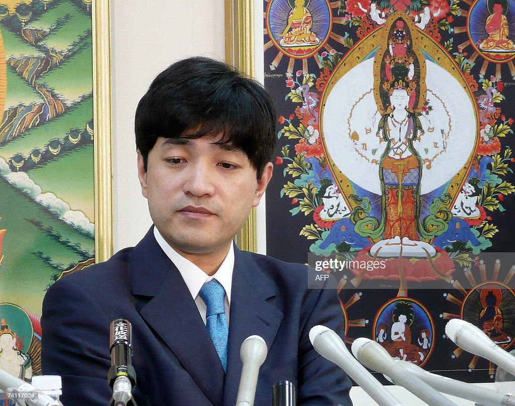 This picture taken 09 May 2007 shows Fumihiko Joyu, former leader of a doomsday cult, holding a press conference announcing the launch of a splinter group named 'Hikari no Wa' or 'circle of brilliance' which split from the Aum Supreme Truth cult, in Tokyo. Japan's intelligence agency 10 May launched inspections of a new offshoot of a doomsday cult that launched a deadly nerve gas attack on Tokyo's subway in 1995, reports said. It was the agency's first monitoring of the splinter group, named Hikari no Wa ('Circle of Brilliance'), since a reputedly moderate former leader of the Aum Supreme Truth cult started the offshoot earlier this week.