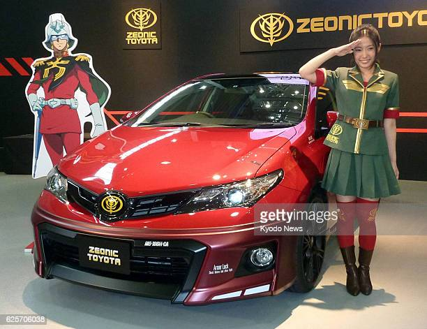 Tokyo Japan Toyota Marketing Japan Corp a marketing unit of Toyota Motor Corp unveils the 'Auris Char's Customize' in Tokyo on Aug 26 2013 The...