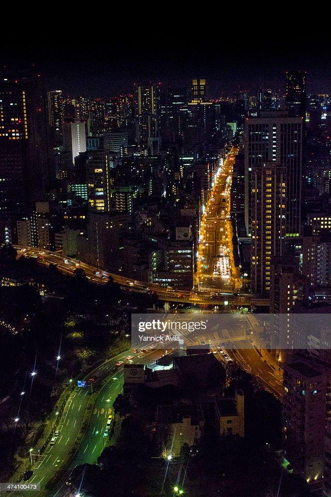 Tokyo Light Veins : Stock Photo