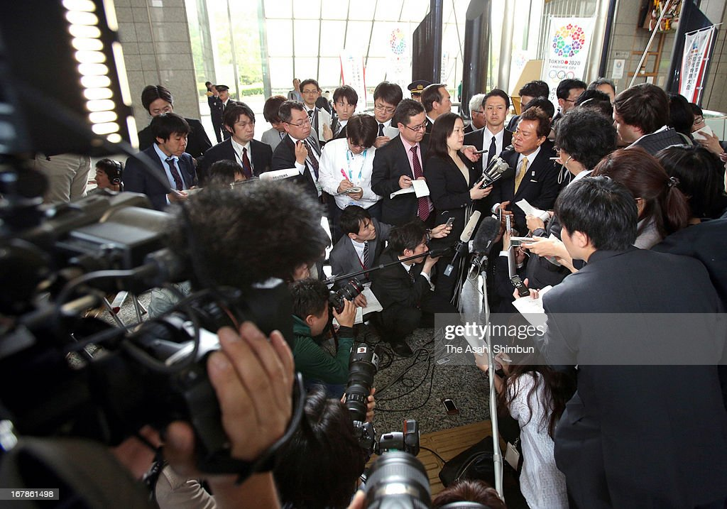 Tokyo Metropolitan governor Naoki Inose speaks to media reporters at Tokyo Metropolitan Headquarters on April 30, 2013 in Tokyo, Japan. Inose has been forced to backpedal and apologize after The New York Times quoted him as describing Islamic countries as 'fighting with each other' in reference to Istanbul, one of Tokyo's rivals to host the 2020 Summer Olympics.