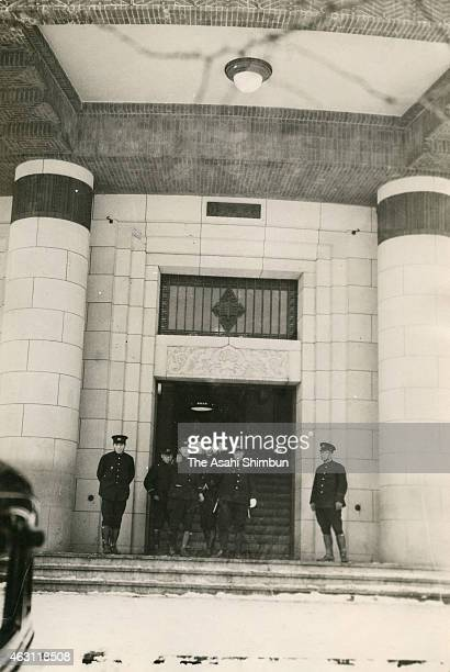 Tokyo Metropolitan Police headquarters is seen during the February 26 Incident on February 27 1936 in Tokyo Japan