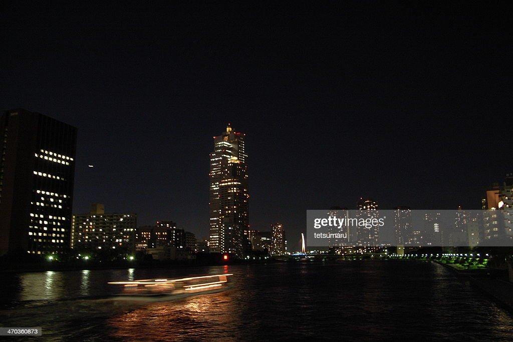 Tokyo night view from Kachidoki-bridge : Stock Photo