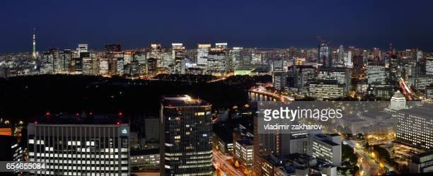 Tokyo night view panorama