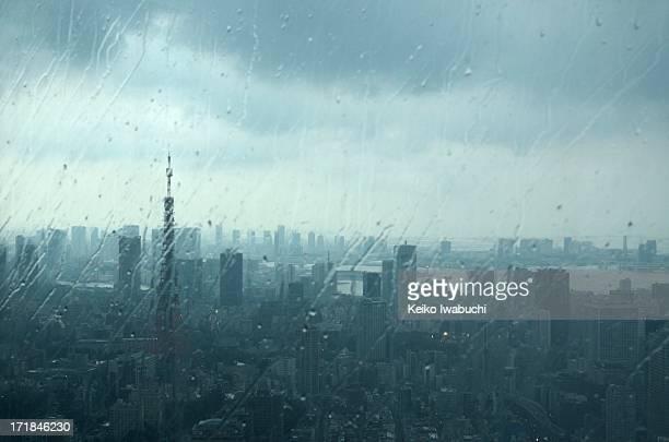 Tokyo on the rainy day