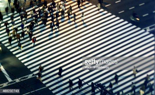 Tokyo, pedestrian crossing
