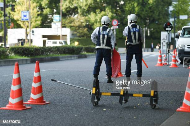 Tokyo Police have launched tight security measures in the capital ahead of US President Donald Trumps first visit to Japan scheduled for Nov 57 On...