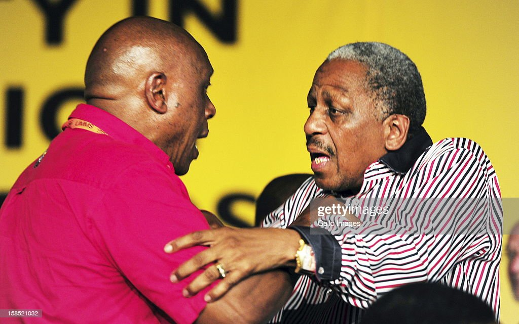 Tokyo Sexwale and Mathew Phosa during the ANC Mangaung elective conference at the University of Free State on December 17, 2012, in Bloemfontein, South Africa.