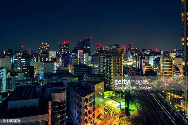 Tokyo, Shibaura at night