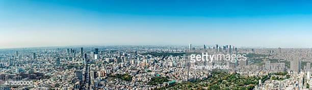 Tokyo Skyline toward Shibuya, Shinjuku (large panorama)