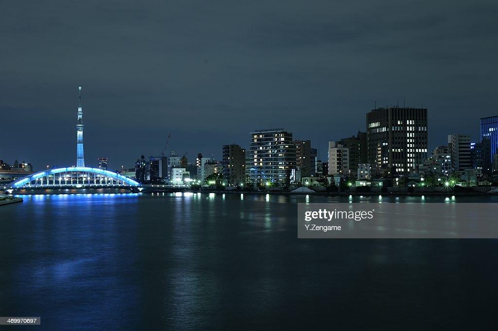 Tokyo Skytree and Eidai bridge : Stock Photo