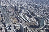 Tokyo Station Area, Aerial View, Pan Focus