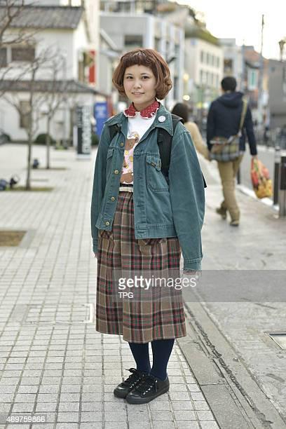 Tokyo Street Fashion at Harajuku on 15th March 2015 in Tokyo Japan