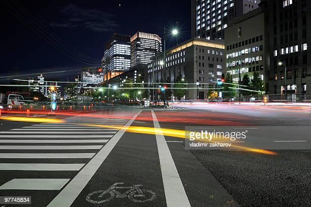 Tokyo streets at night