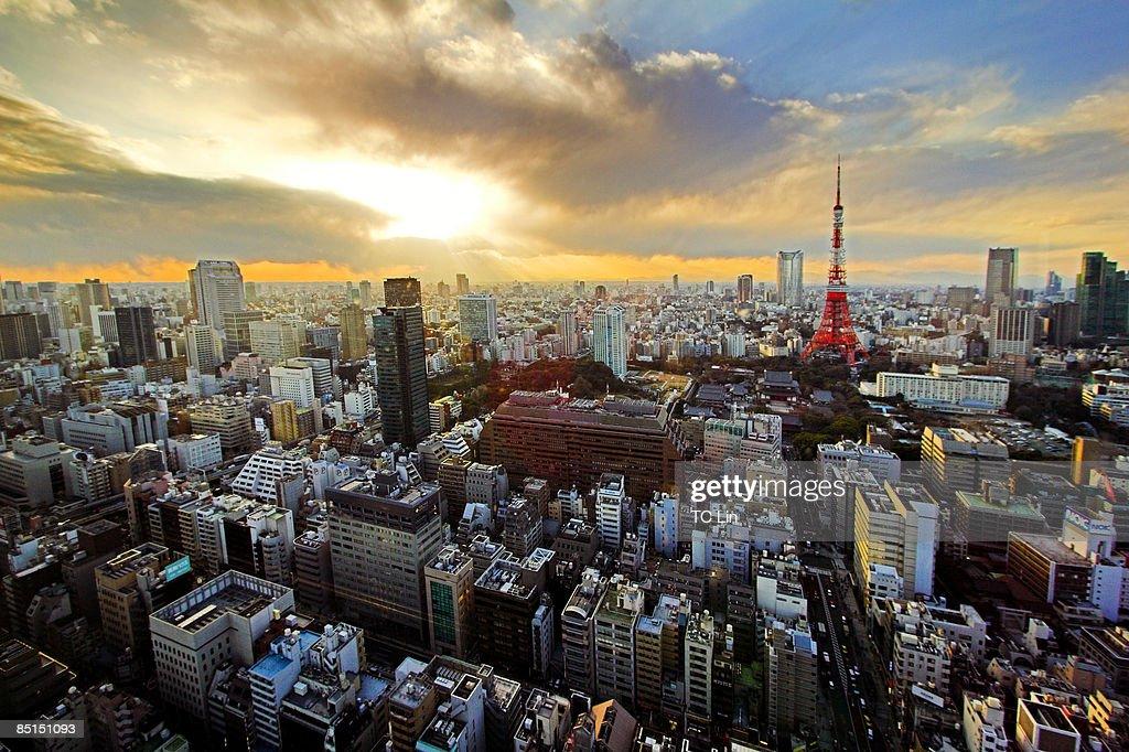 Tokyo sunset : Stock Photo