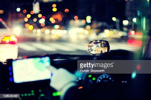 Tokyo taxi interior