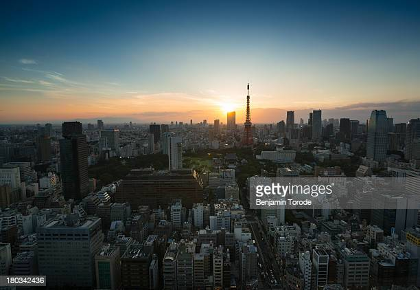 Tokyo Tower and Surrounds at Sunset