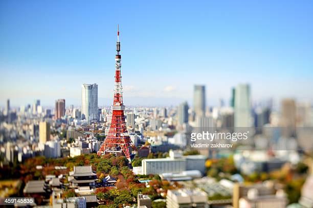 Tokyo Tower in focus