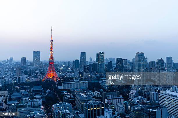 Tokyo Tower in sunset