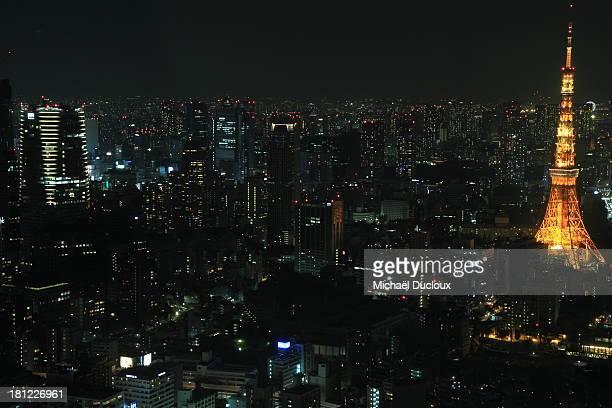 Tokyo Tower & Urban Landscape, Tokyo, Japan