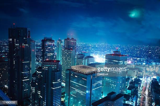 Tokyo Towers in moonlight